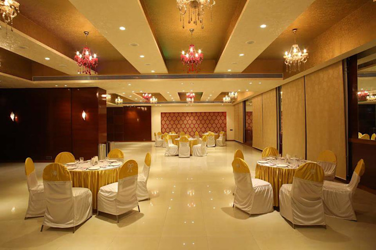 Banquet hall Modern event venues by Ishita Joshi Designs - Love Living! Modern