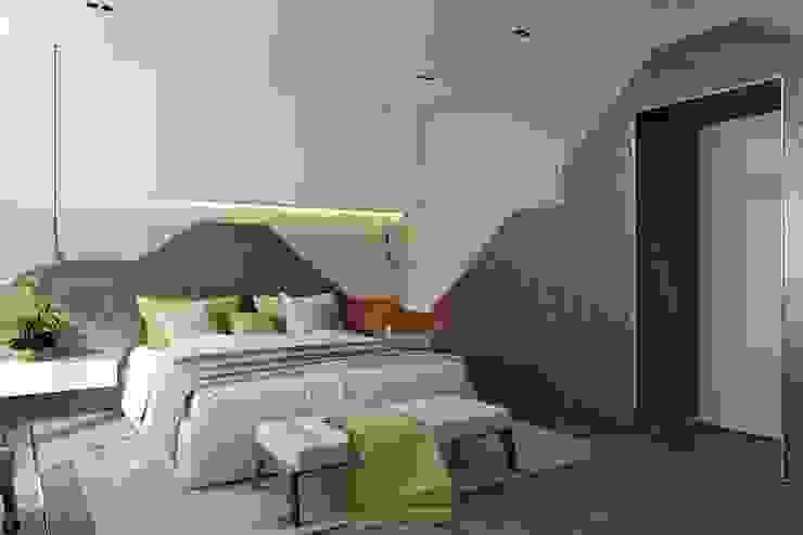 Dormitorios minimalistas de СВЕТЛАНА АГАПОВА ДИЗАЙН ИНТЕРЬЕРА Minimalista