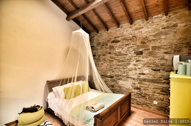 Casa do Páteo Rustic style bedroom