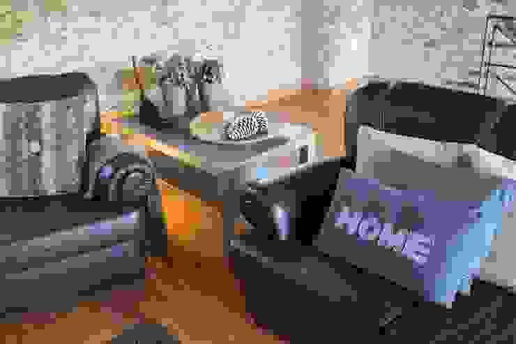 Casa do Páteo Rustic style living room