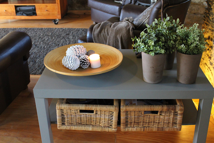 Sala de estar - pormenores Salas de estar rústicas por Casa do Páteo Rústico