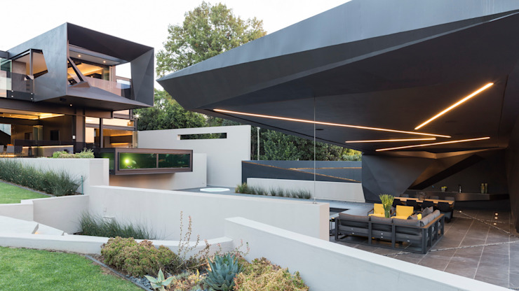 House in Kloof Road Nico Van Der Meulen Architects ระเบียง, นอกชาน