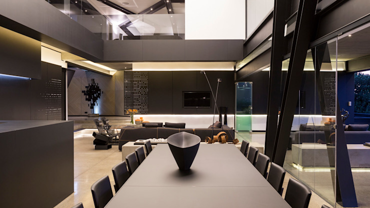 House in Kloof Road Modern Dining Room by Nico Van Der Meulen Architects Modern