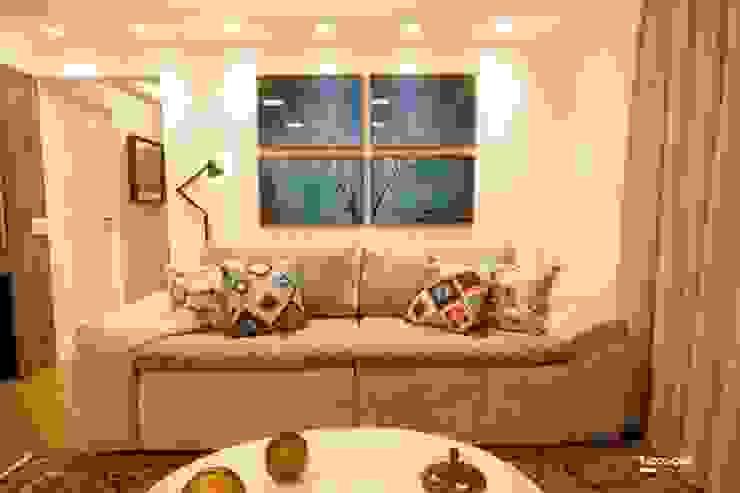 Apartamento Salas de estar modernas por Artenova Interiores Moderno