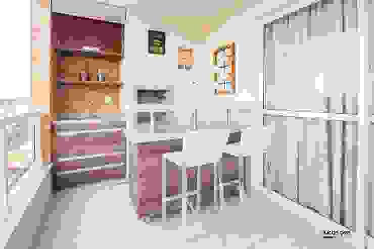 Apartamento Varandas, alpendres e terraços modernos por Artenova Interiores Moderno