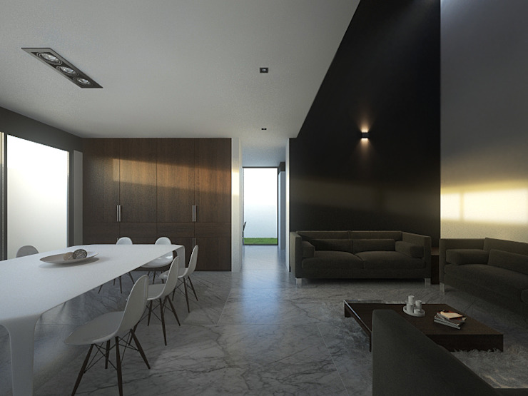 Minimalist dining room by RTstudio Minimalist