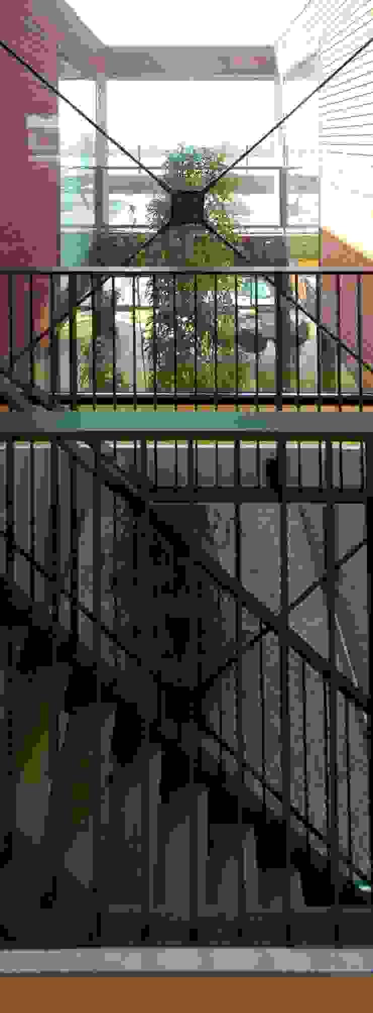 VILLA DE WAARD MENSINK, Ijburg, Amsterdam KENK Architecten Moderne gangen, hallen & trappenhuizen van KENK architecten Modern