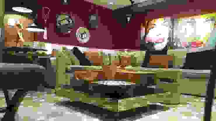 Estar com sofá em puro linho. Um luxo! por Lucio Nocito Arquitetura e Design de Interiores Moderno Linho Rosa