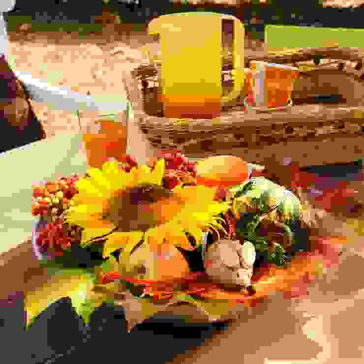 Herbstschale, stimmig mit Blumen und Deko. von Bastelspass24 Landhaus