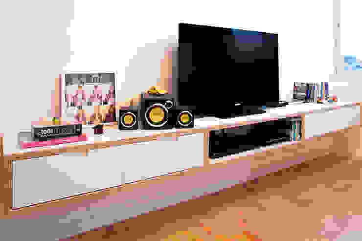 Projeto Apartamento Ipiranga Salas de estar modernas por Estudio MB Moderno