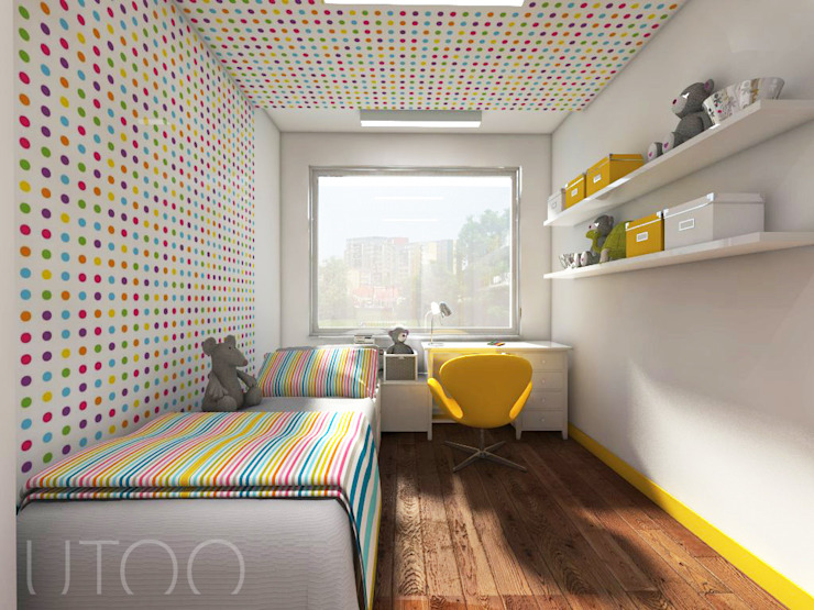 Quarto infantil moderno por UTOO-Pracownia Architektury Wnętrz i Krajobrazu Moderno