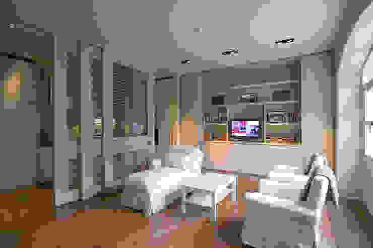 AFTER Modern living room by FALCHI INTERIORS LTD Modern