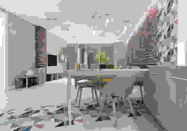Comedores de estilo moderno de UTOO-Pracownia Architektury Wnętrz i Krajobrazu Moderno