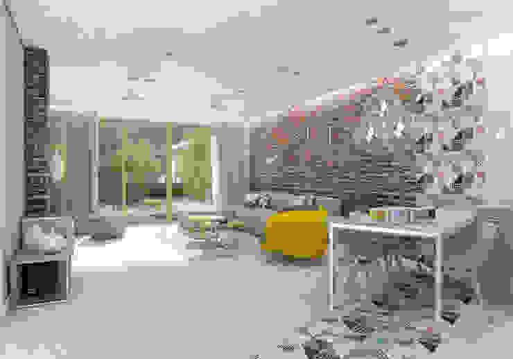 UTOO-Pracownia Architektury Wnętrz i Krajobrazu Salon moderne