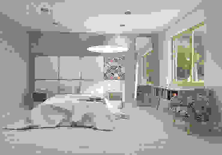 Habitaciones modernas de UTOO-Pracownia Architektury Wnętrz i Krajobrazu Moderno