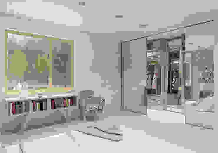 Dormitorios de estilo moderno de UTOO-Pracownia Architektury Wnętrz i Krajobrazu Moderno