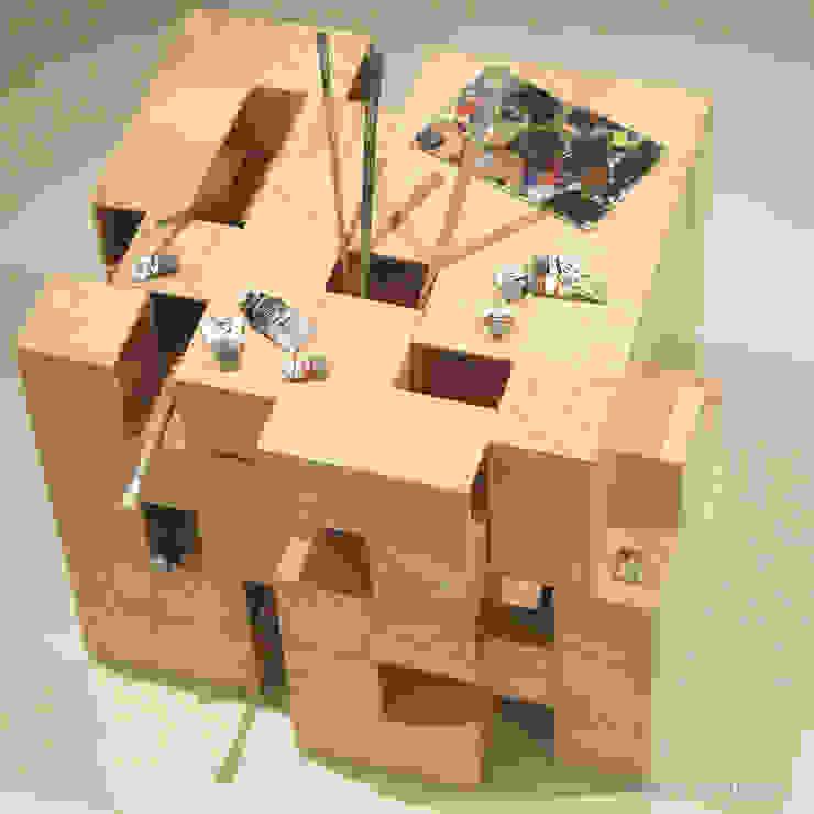 Puzzle Table por Verso Branco Moderno Contraplacado