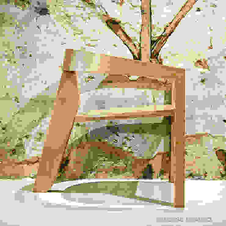 Cadeira Lounge por Verso Branco Moderno Madeira maciça Multicolor