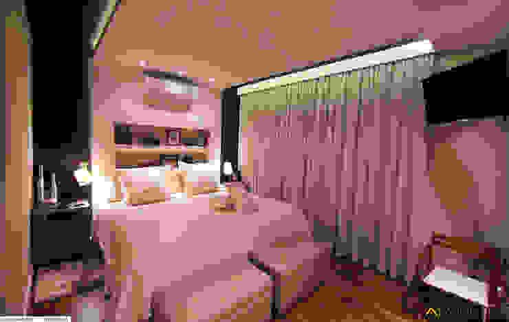 Dormitório Casal:   por IMAGINARTE -  Arquitetura & Construção