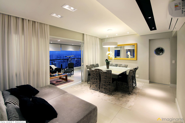 Sala de Jantar:   por IMAGINARTE -  Arquitetura & Construção