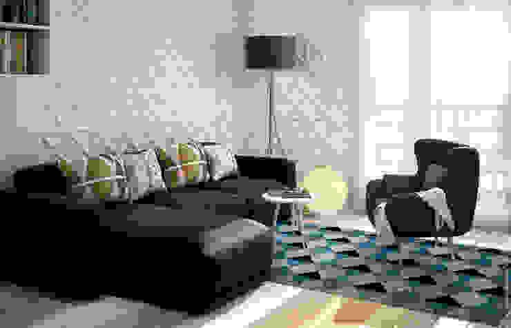 décoration d'un salon Salon moderne par Concept d'intérieur Moderne Bois Effet bois
