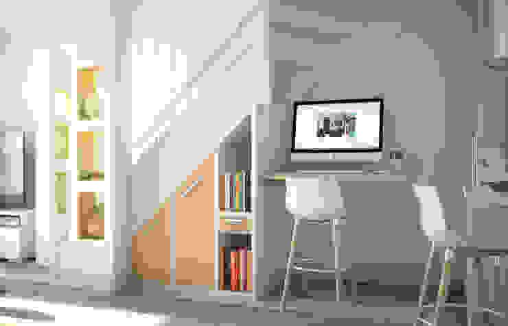 Corredores, halls e escadas modernos por Concept d'intérieur Moderno Madeira Acabamento em madeira