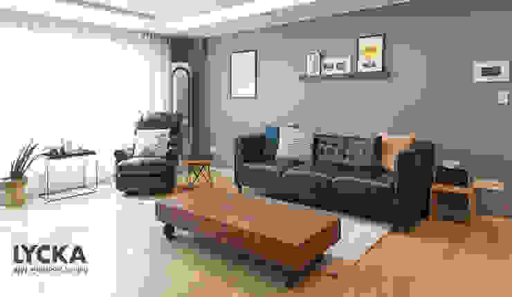 Scandinavian style living room by LYCKA interior & styling Scandinavian