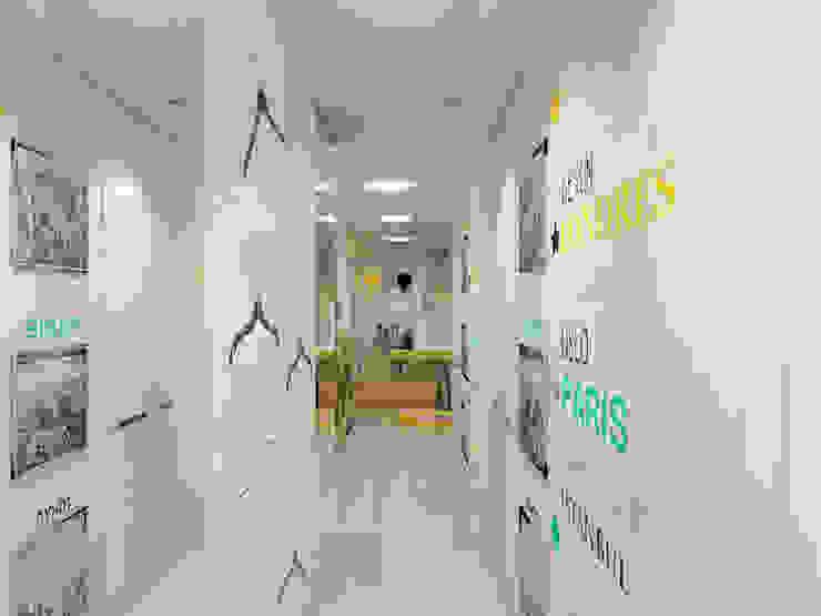 Eclectic corridor, hallway & stairs by Details, design studio Eclectic