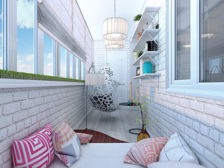 Balcones y terrazas de estilo ecléctico de Details, design studio Ecléctico
