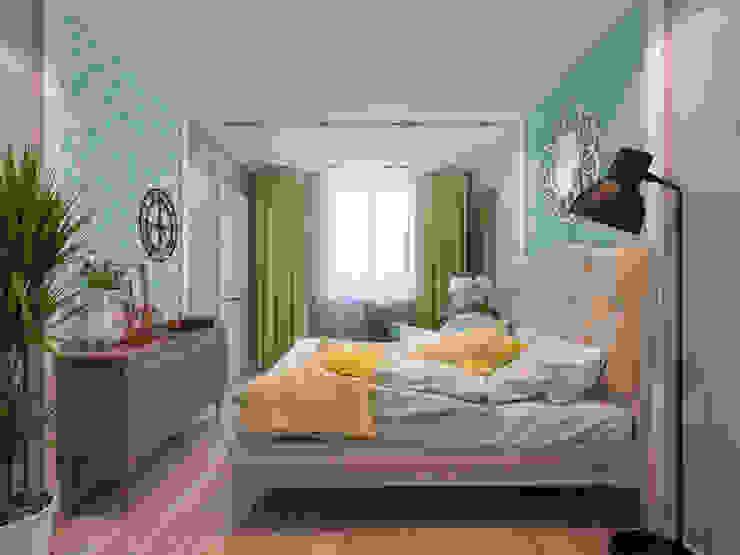 Дизайн-проект в ЖК Миргород Спальня в эклектичном стиле от Details, design studio Эклектичный