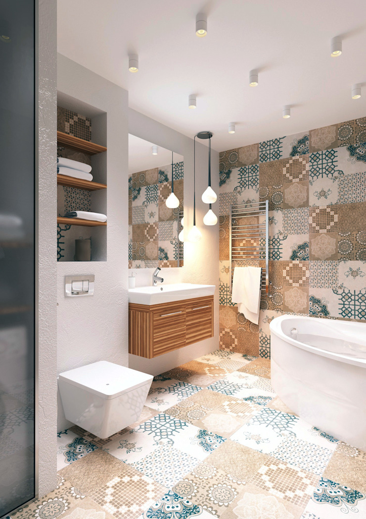QUADRUM STUDIO Industrial style bathroom