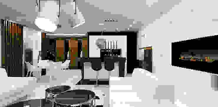 salon z kuchnią Nowoczesny salon od ARTDESIGN architektura wnętrz Nowoczesny
