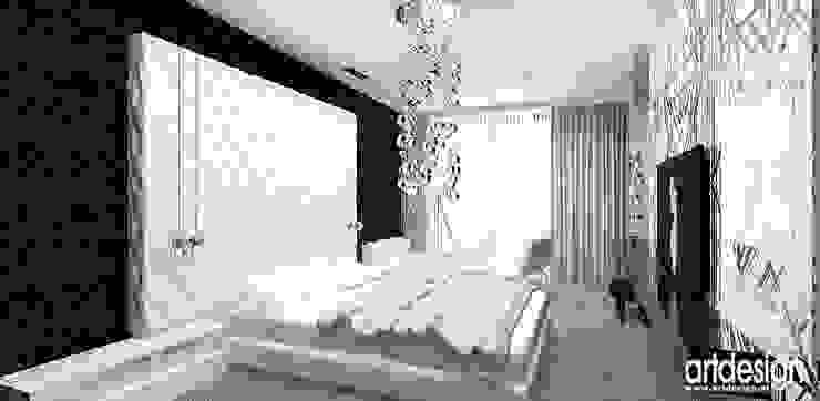 aranżacja sypialni Nowoczesna sypialnia od ARTDESIGN architektura wnętrz Nowoczesny