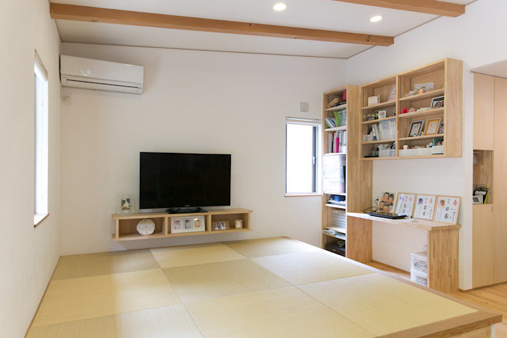 葛城の家 モダンデザインの リビング の 株式会社 atelier waon モダン