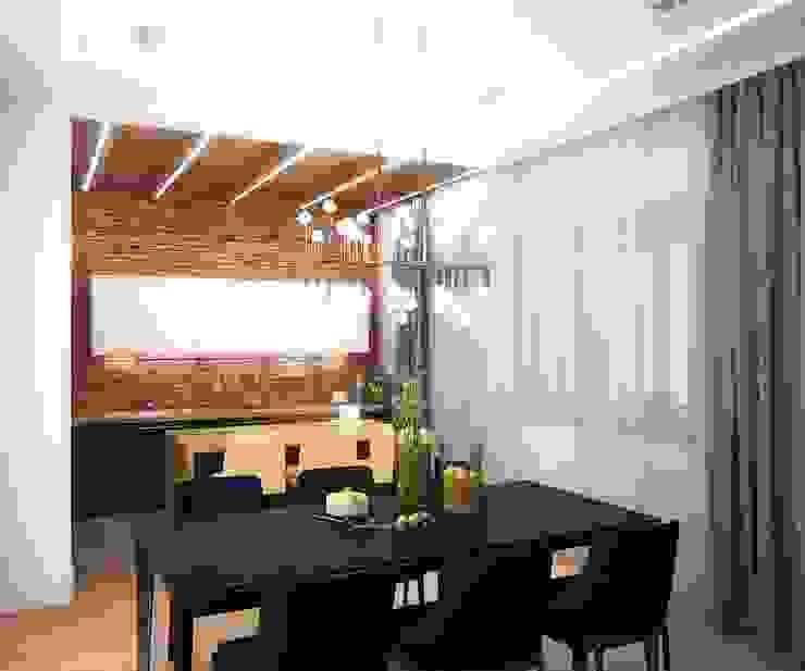 Апартаменты на Фрунзенской Кухни в эклектичном стиле от ООО 'Студио-ТА' Эклектичный