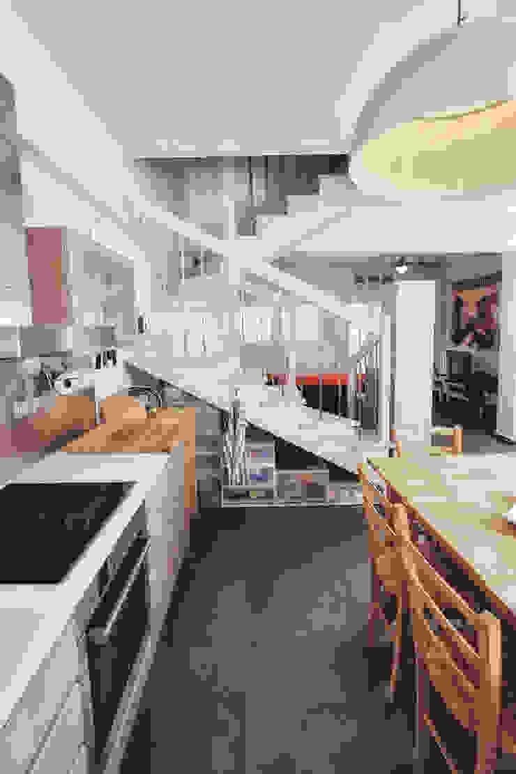 AP penthouse Matteo Fieni Architetto Cucina in stile mediterraneo