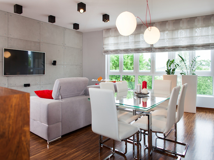 Salones modernos de MYSprojekt projektowanie wnętrz Moderno
