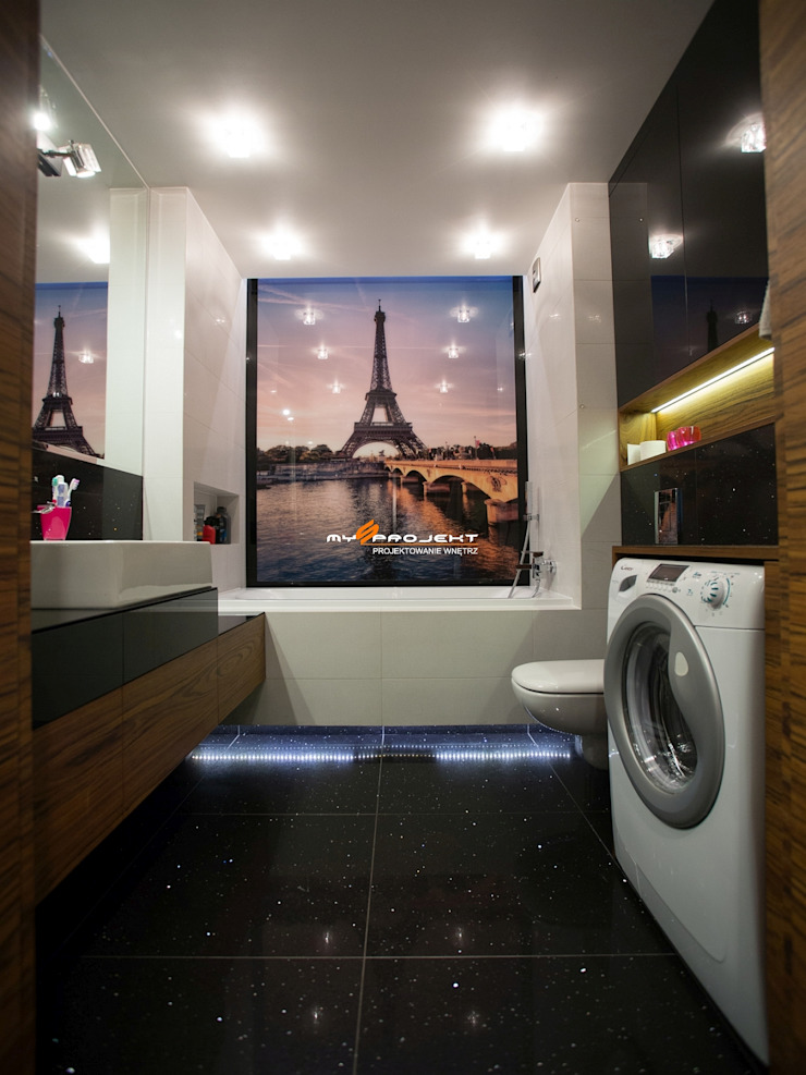 Salle de bain moderne par MYSprojekt projektowanie wnętrz Moderne