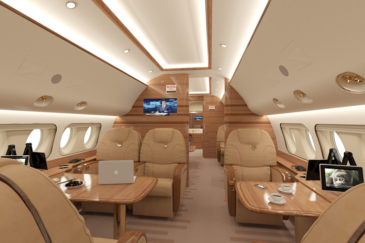 3д-визуализация и дизайн-проект самолета Аэропорты в стиле модерн от Антон Булеков Модерн