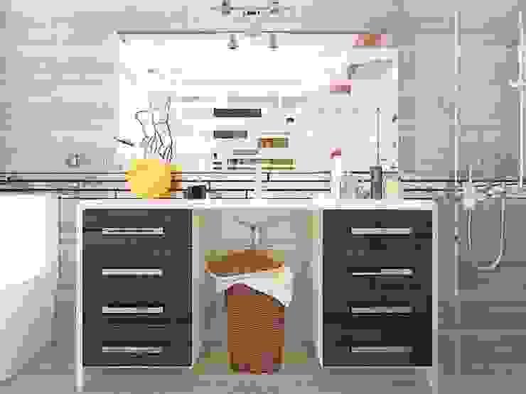 хозяйский санузел Ванная комната в стиле минимализм от Дизайн студия Марины Геба Минимализм