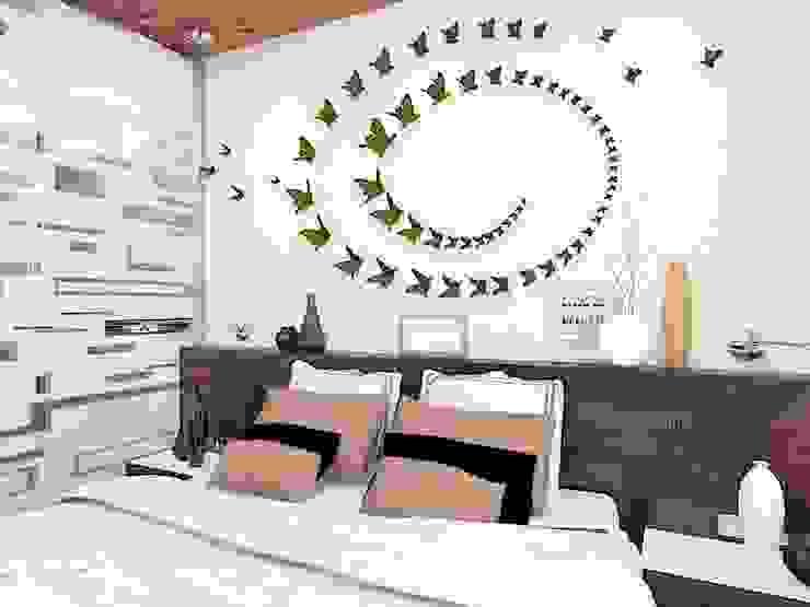 хозяйская спальня Спальня в стиле минимализм от Дизайн студия Марины Геба Минимализм