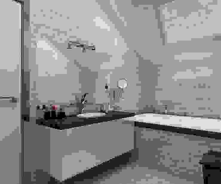 санузел 2 этаж Ванная комната в стиле минимализм от Дизайн студия Марины Геба Минимализм