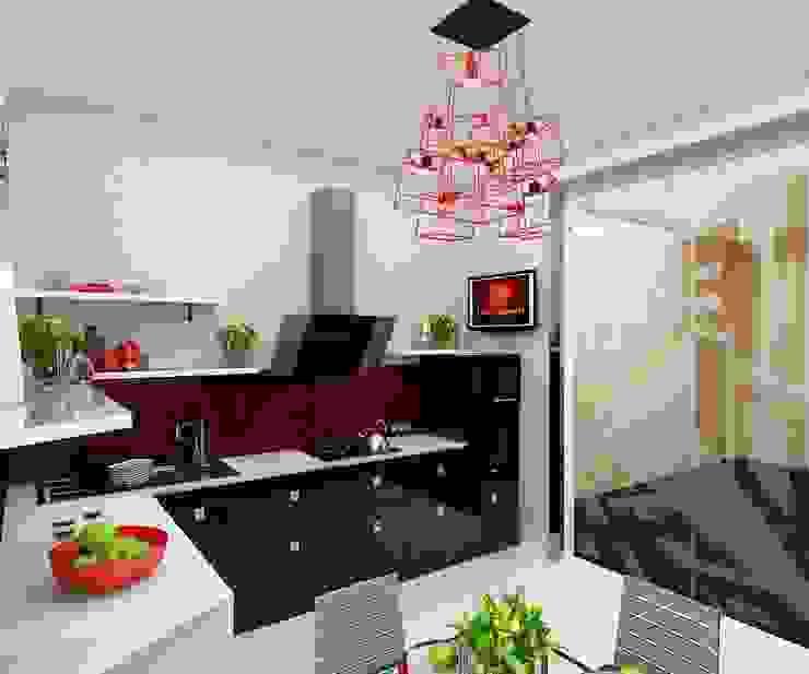 кухня Кухня в стиле минимализм от Дизайн студия Марины Геба Минимализм