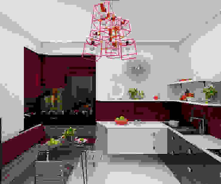 Дизайн студия Марины Геба Minimalist kitchen