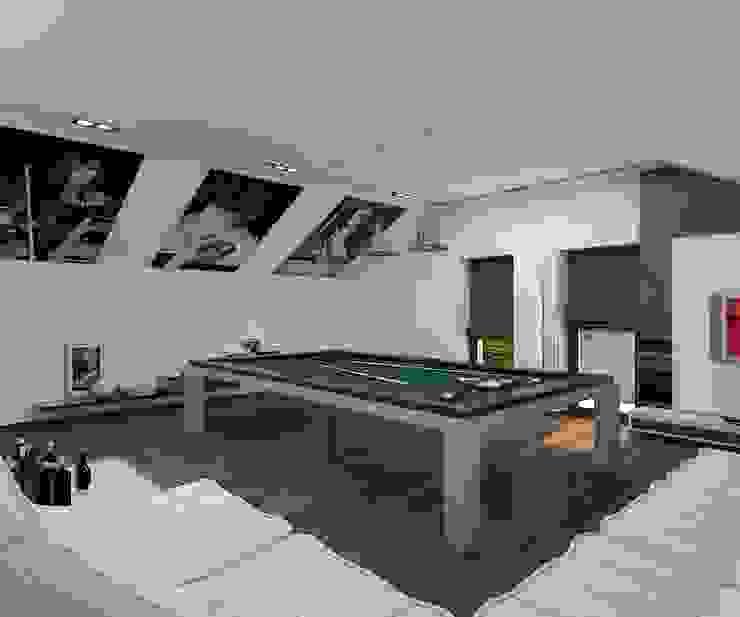 Бильярдная Медиа комната в стиле минимализм от Дизайн студия Марины Геба Минимализм