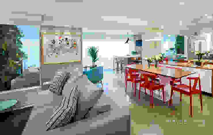 Casas Salas de estar modernas por Danyela Corrêa Moderno