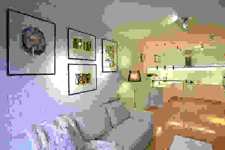 BIAŁE WNĘTRZE: styl , w kategorii Salon zaprojektowany przez IDAFO projektowanie wnętrz i wykończenie,Nowoczesny