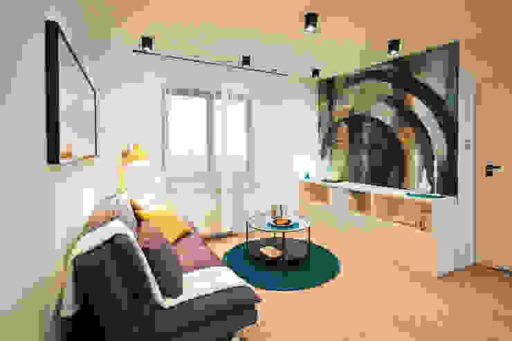 Modern Living Room by IDAFO projektowanie wnętrz i wykończenie Modern