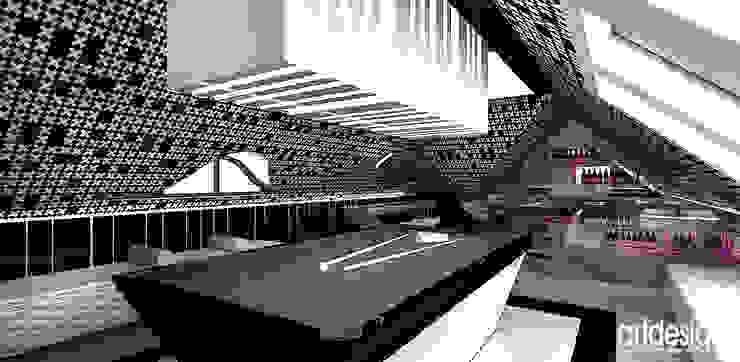 Strefa rekreacji: bilard, kino domowe Nowoczesny pokój multimedialny od ARTDESIGN architektura wnętrz Nowoczesny