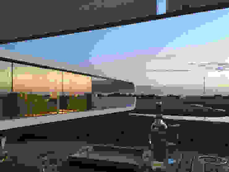 Moderner Balkon, Veranda & Terrasse von Waterstudio.NL Modern